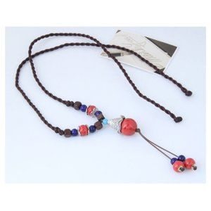 💰Boho Festival Twisted Bead Necklace Chain
